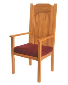 Celebrants Chair for Altar Medium Oak Foam Seat