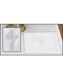 White Celtic Cross Lavabo Towel