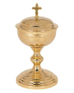 Etched Design Communion Ciborium - 250 hosts