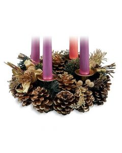 Festive Pine Cone Advent Wreath