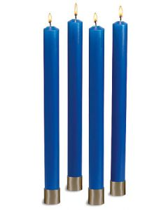 Polar Advent Candle Set All Blue 12""