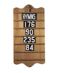 Wall Mount Church Hymnal Board Maple Stain