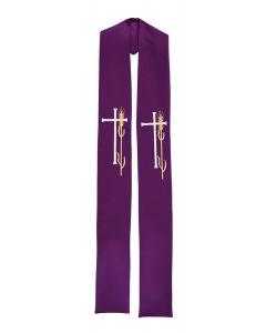 Wheat and Cross Clergy Stole or Deacon Stole