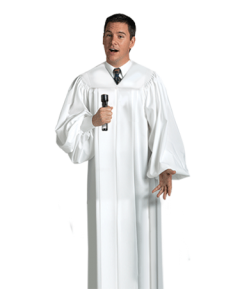 White Choir Robe