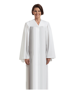 White Choir Robe with Open Sleeves