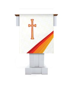 White Joy Lectern Scarf Celebration Series