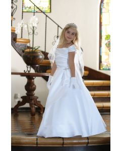 Satin A-Line Full Length First Communion Dress