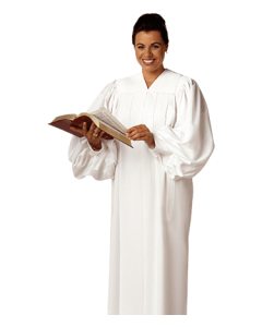 White Preaching Robes for Women