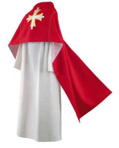 Thomas Cross in Red Clergy Humeral Veil
