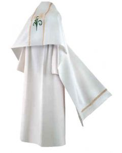 Easter Lily White Clergy Humeral Veil