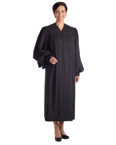 Women's Plain Black Clergy Robe