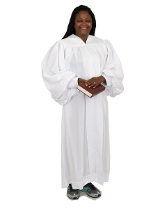 Women's Plain White Clergy Robe