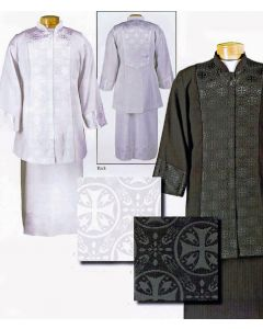 Women's 2 Piece Clergy Suit (black or White)