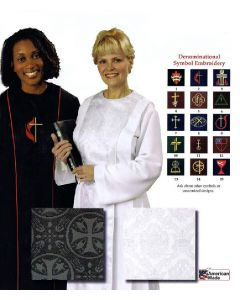 Women's Clergy Robe with Denominational Symbol