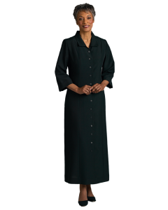 Womens Tailored Black Clergy Church Dress