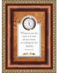 Working For the Lord Tabletop Christian Clock
