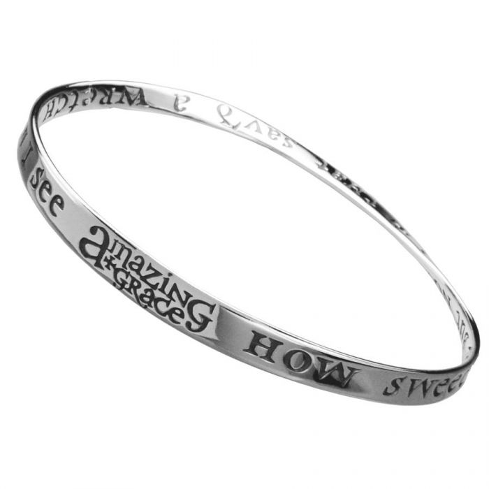 AMAZING GRACE Christian Bangle Bracelet