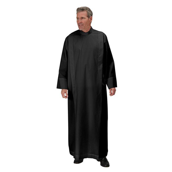 Black Front Wrap Clergy Alb