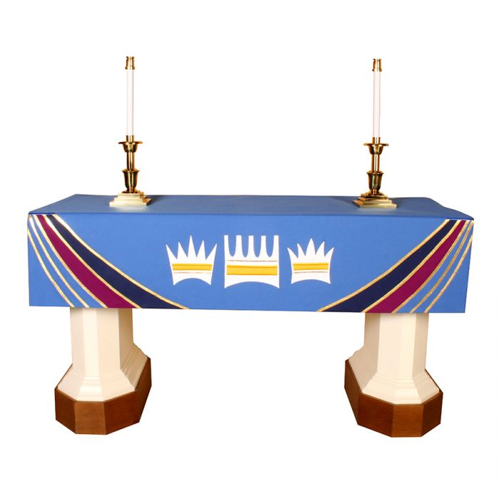 Blue Advent Altar Frontal Ascension Series