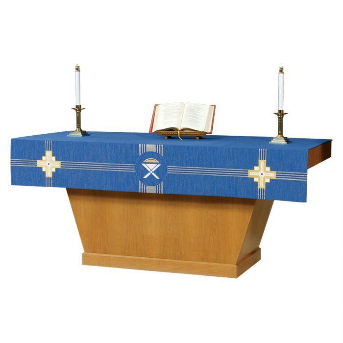 Blue Advent Altar Superfrontal Kingdom Cross Series