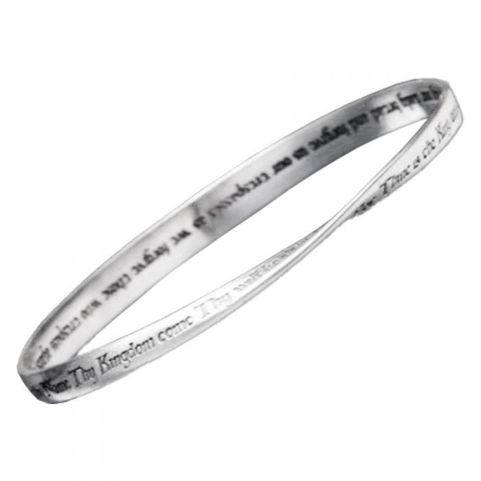 LORD'S PRAYER KJV Christian Bangle Bracelet