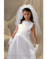 Irish Shamrocks First Communion Headband Veil