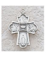 Communion 4-WAY MEDAL w/CHAIN SS