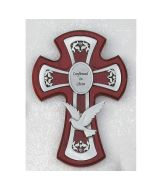 Confirmation CROSS WITH PEWTER HOLY SPIRIT - Cherry Stained