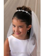 First Communion Pearl Hairband Veil