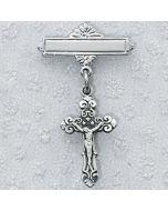 Crucifix Baptism Baby Bar Pin