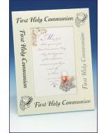Communion Picture Frame Silver