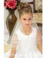 First Communion Pearl Edge Trim Veil