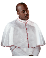 White with Scarlet Piping Clergy Shoulder Cape