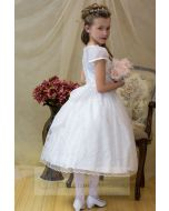 Organza Irish Shamrock First Communion Dress Tea Length