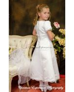 Satin A-Line First Communion Dress