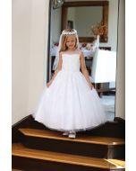 Tea Length Beaded First Communion Dress