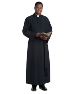 Traditional Bishop Cassock in Black