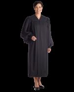 Women's Plain Black Clergy Robe