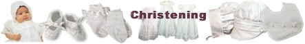 christening accessories - bibs - bonnets- shoes- blankets