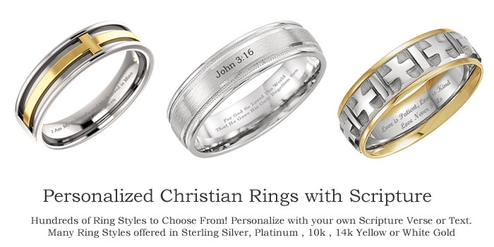 Personalized Christian Rings with Scripture